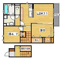 (仮)D-Room河内磐船[2階]の間取り