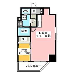 ウインステージ箱崎II[9階]の間取り