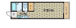 兵庫県神戸市長田区五位ノ池町1丁目の賃貸アパートの間取り