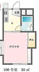 東京都多摩市落合1丁目の賃貸アパートの間取り
