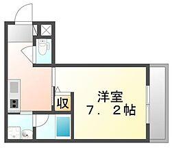JR山陽本線 福山駅 徒歩10分の賃貸マンション 1階1Kの間取り