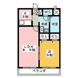 N'sハイツ[3階]の間取り