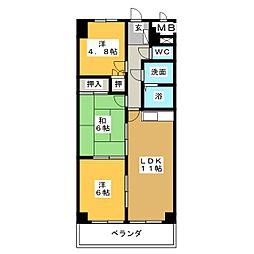 ハーム日進[3階]の間取り
