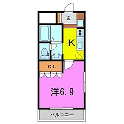 リバティヒルズ吉田VI[201号室]の間取り