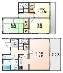 [テラスハウス] 兵庫県神戸市西区池上5丁目 の賃貸【兵庫県 / 神戸市西区】の間取り