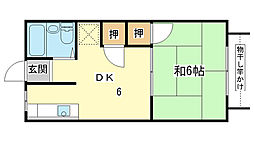ユニハイツ田村II[205号室]の間取り