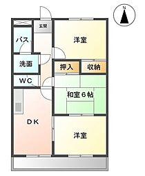 愛知県名古屋市緑区滝ノ水4丁目の賃貸マンションの間取り
