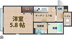 東京都杉並区下井草4丁目の賃貸アパートの間取り