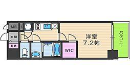 ファーストフィオーレ福島野田II 7階1Kの間取り