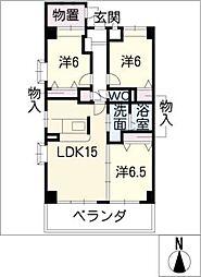 NORTH FORTUNA[7階]の間取り