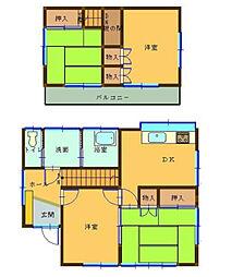 [一戸建] 神奈川県厚木市飯山 の賃貸【/】の間取り
