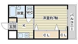 アンフィニィ・松ヶ丘[401号室]の間取り