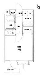 東京都新宿区喜久井町の賃貸マンションの間取り