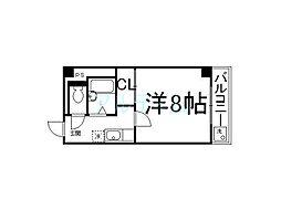 京都府京都市下京区下鱗形町の賃貸マンションの間取り