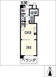 シティヴィラ中浜田[4階]の間取り