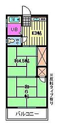 アパート・グロリア[2階]の間取り
