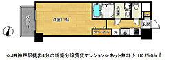 アドバンス神戸ラフィナート[12階]の間取り