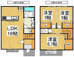 [タウンハウス] 埼玉県所沢市大字北秋津 の賃貸【/】の間取り