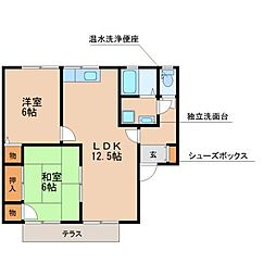セジュール松泉D棟[1階]の間取り