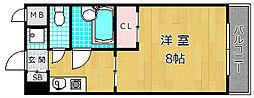 サニーカーサ[6階]の間取り