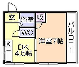 福岡県久留米市藤山町の賃貸アパートの間取り