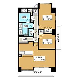 グランマスト白壁[3階]の間取り