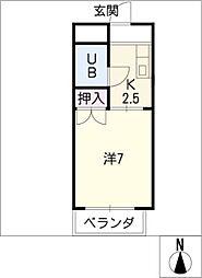 福善ビル[6階]の間取り