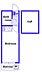 間取り,ワンルーム,面積14.37m2,賃料3.8万円,横浜市営地下鉄ブルーライン 三ツ沢下町駅 徒歩14分,東急東横線 反町駅 徒歩17分,神奈川県横浜市神奈川区六角橋4丁目