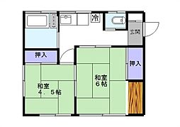 [一戸建] 千葉県松戸市小金原8丁目 の賃貸【/】の間取り