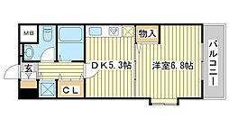 セルジュYS姫路[407号室]の間取り