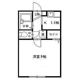 美倉ハウス[1階]の間取り