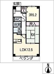 メルベーユ鎌須賀[4階]の間取り