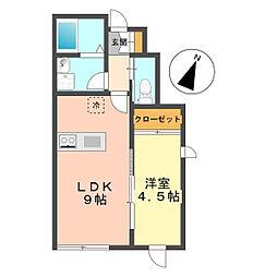 東京都江戸川区篠崎町5丁目の賃貸アパートの間取り