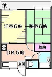 グランデュール南太田[1階]の間取り