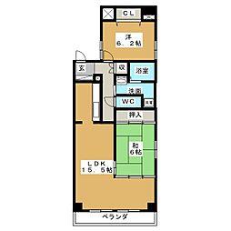 サンコーマンションII[2階]の間取り