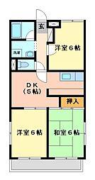 神奈川県川崎市宮前区神木本町5丁目の賃貸マンションの間取り