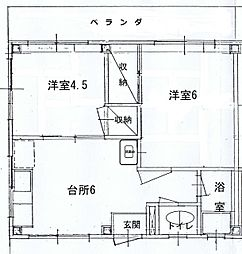 第12正田ビル[203号室]の間取り