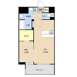 仮称)野間1丁目_101マンション 4階1LDKの間取り