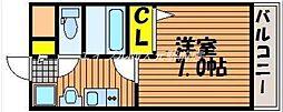 岡山県岡山市北区奉還町4の賃貸アパートの間取り