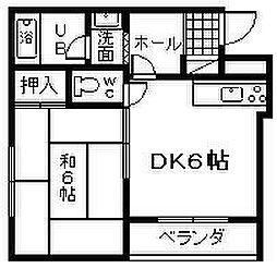 ネッスルKD[201号室]の間取り