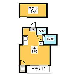 EPOCH大橋南[1階]の間取り