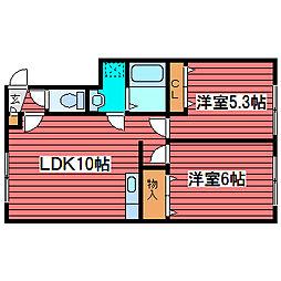 シャトーヒオキ[3階]の間取り