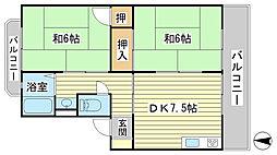 日山マンション[4-6号室]の間取り