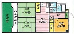 第2戸田ホワイトハイツ[1階]の間取り