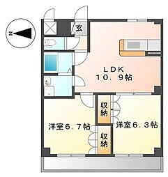 旭区本宿町 パルK&YII101号室[101号室]の間取り
