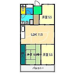 パークサイド高須II[3階]の間取り