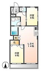 OS・SKYマンション中島新町[1階]の間取り