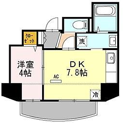 東京都大田区大森西5丁目の賃貸マンションの間取り