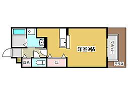 兵庫県姫路市双葉町の賃貸アパートの間取り