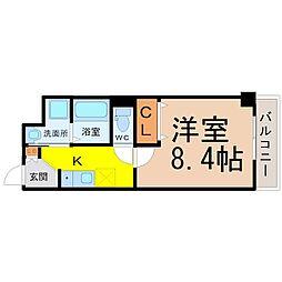 セントラルハイツ名古屋[3階]の間取り